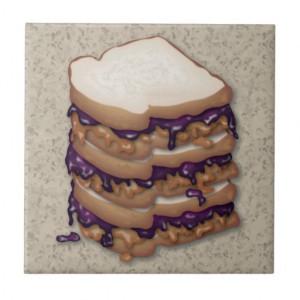 Peanut Butter and Jelly Sandwiches Tiles