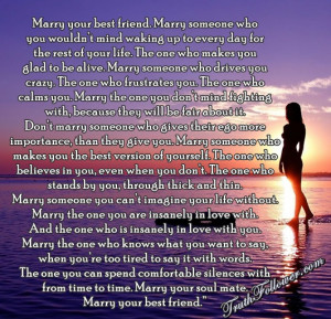 marry your best friend marry someone who you wouldn t mind waking up ...