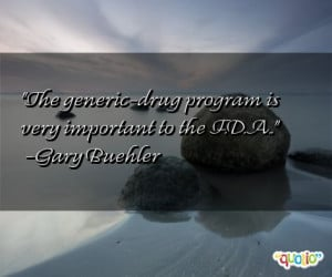 The generic - drug program is very important to the F.D.A..