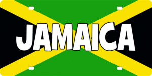 Jamaican Flag with Text License Plate, Jamaican Flag with Text License ...