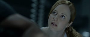 Andrea Riseborough (as the scorned Victoria) in Oblivion