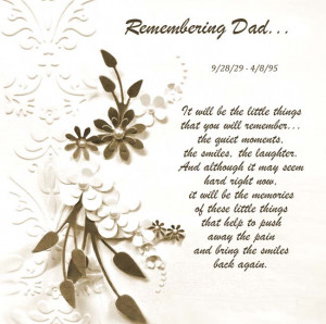 Remembering Dad