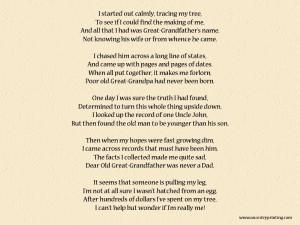 Genealogy Poem - Who Am I?