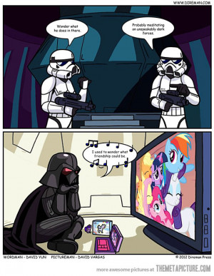 Funny photos funny Darth Vader My Little Pony