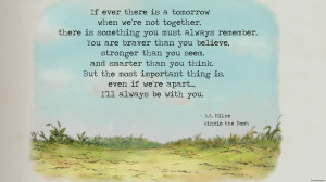 Pic of the Day - Winnie the Pooh - I'll Always Be With You