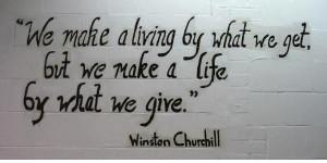 quote generosity, love, kindness: Generous Quotes, Life, Churchill ...