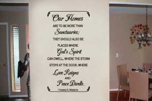 Our homes are to be 19x36 Vinyl Lettering Wall Quotes Words Sticky