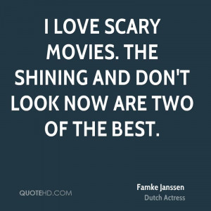 love scary movies. The Shining and Don't Look Now are two of the ...