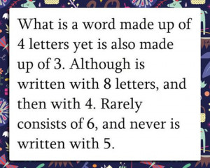 Tricky tricky...and clever. Def took me a minute to figure it out
