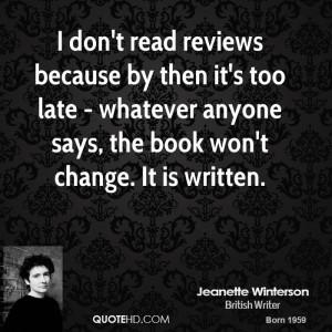 Jeanette Winterson Change Quotes
