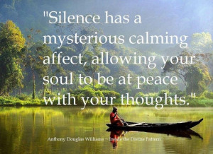 soul at peace with thoughts