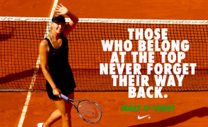 Nike Tennis has taken over to make sure Maria Sharapova feels the love ...