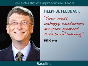 Bill Gates on helpful feedback.