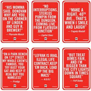 RAP QUOTES – New York et Street Art Localisé