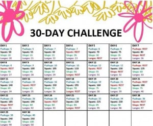 30 Day Challenges, 30Day, Squats Challenges, Exercise Challenges ...