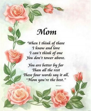 Mothers Quotes Poems About Mothers Moms Poems Sayings Quote Mother Mom ...