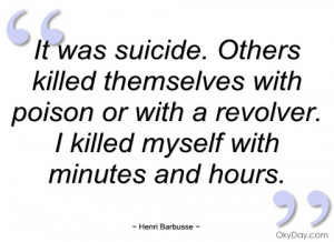 it was suicide henri barbusse