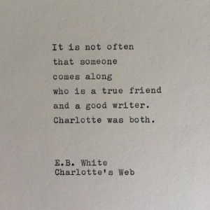 White Typewriter Quote / Handtyped On Typewriter