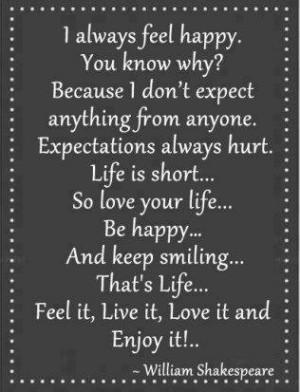 always feel happy .