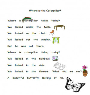 Kindergarten Poems About Butterflies
