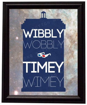 Doctor Who 10th Doctor Wibbly Wobbly Timey by WrongButtonCrafts, $12 ...
