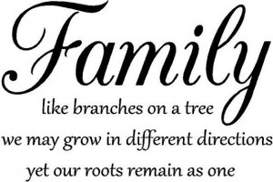 Family like branches on a tree Vinyl Decal Wall Art Lettering Quote ...