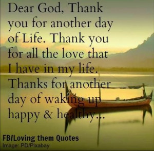 Thank You God For Another