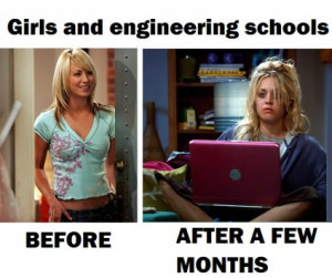 funny picture girls engineering schools penny wanna joke.com