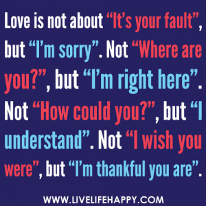 Im Sorry I Love You Quotes