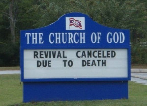Funny Church Signs 22