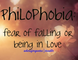 Fear of Falling or BEing In Love ~ Being In Love Quote