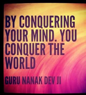 Quotes, Nanak Devji, Conquers Mindfulness, Guru Nanak Quotes, Guru ...