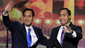 San Antonio Mayor Julian Castro left and his brother Joaquin Castro