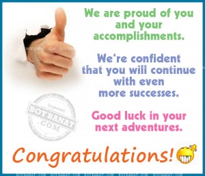 Congratulations Quotes and Sayings