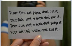 ... isn t paper don t cut it your face isn t a mask don t hide it your