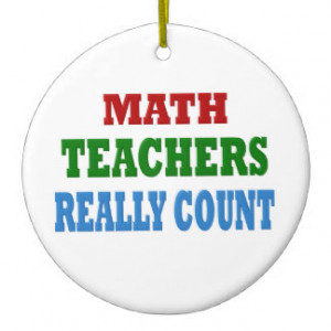 Funny Math Teacher Double-Sided Ceramic Round Christmas Ornament