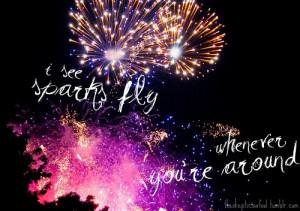 fireworks, fly, love, lyrics, sparks, taylor swift, typography