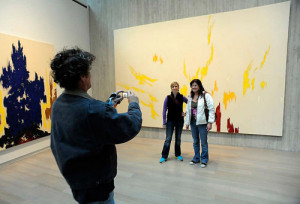 ... Clyfford Still, and a big crowd, the artist's namesake museum opened