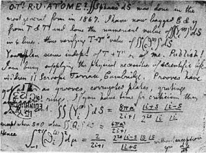 Postcard from James Clerk Maxwell to Peter Guthrie Tait