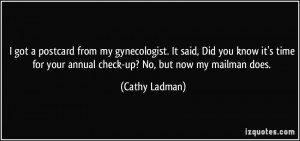 More Cathy Ladman Quotes