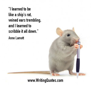 ... Writing » Anne Lamott Quotes - Scribble Down - Funny Writing Quotes