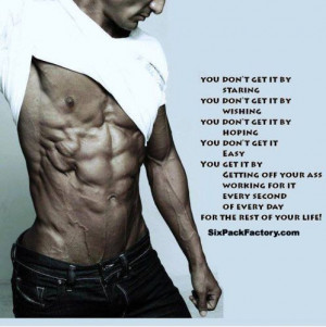 Pack Abs Motivational Quote: