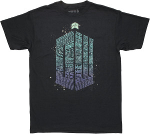Doctor Who TARDIS Shaped Quotes T Shirt