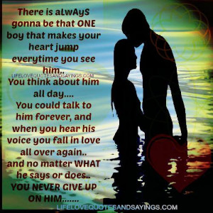 NEVER GIVE UP ON HIM.....