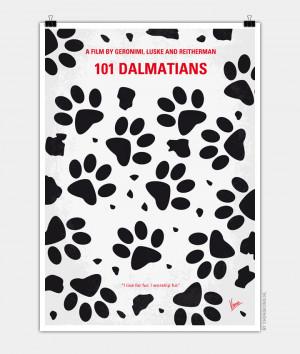 No229 My 101 Dalmatians minimal movie poster 720px