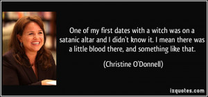 One of my first dates with a witch was on a satanic altar and I didn't ...