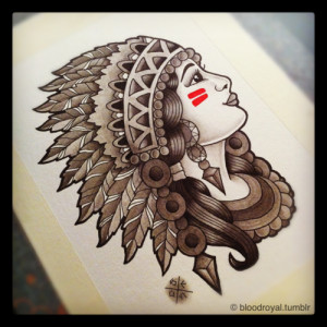 ... of traditional tattoo indian native american girl woman wallpaper