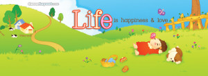 Life is Happiness and Love Facebook Cover Layout