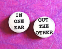 Quote Earrings