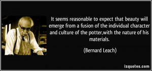 It seems reasonable to expect that beauty will emerge from a fusion of ...